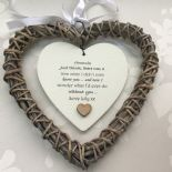 Shabby personalised Chic Special BEST Friend ~ ANY NAME Willow Heart Present BFF - 233008557201